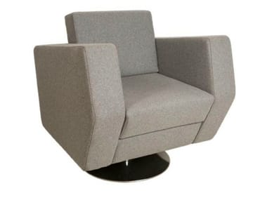 Fabric easy chair with armrests NO CAR