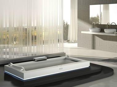 Whirlpool built-in Corian® bathtub AURA UNO CORIAN®
