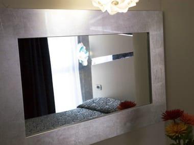 Espelho moldurado em folha de prata ZEUS | Espelho moldurado