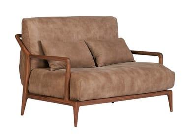 Walnut small sofa INDIGO   Loveseat