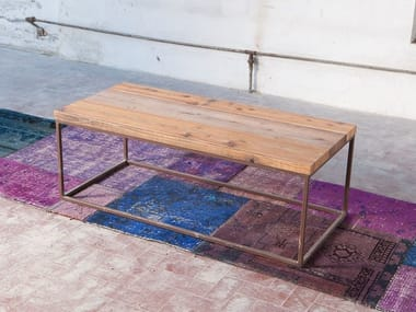 Rectangular reclaimed wood coffee table KOTOV