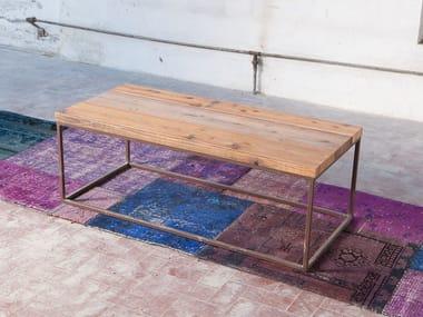 Rectangular reclaimed wood coffee table KOTOV