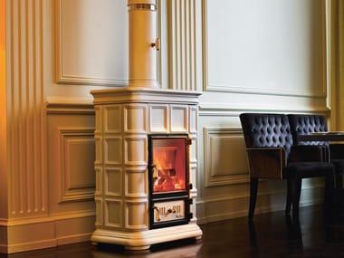 Wood-burning ceramic stove with Thermal Accumulation MARLENE | Wood-burning stove