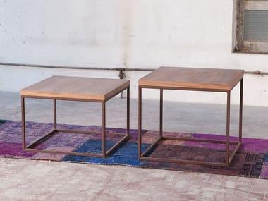 Square wood veneer coffee table for living room MEISEL