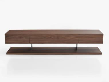 Low wooden TV cabinet STANDARD | Wooden TV cabinet