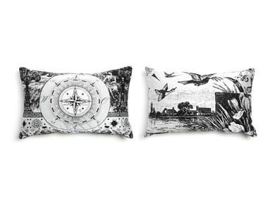 Rectangular fabric sofa cushion HERITAGE 1
