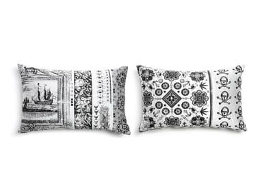 Rectangular fabric sofa cushion HERITAGE 3