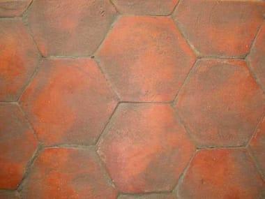 Quarry flooring PAVIMENTO IN ESAGONO