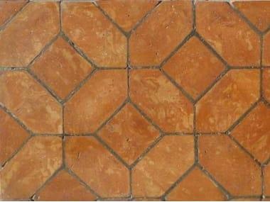 Quarry flooring PAVIMENTO IN LOSANGA ROSSA