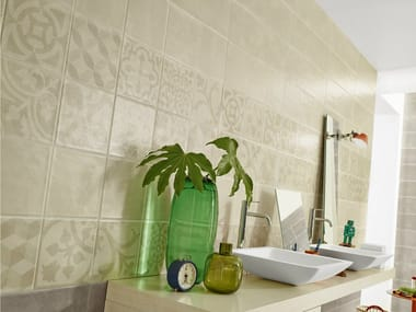 Glazed stoneware wall tiles with concrete effect GROUND | Wall tiles