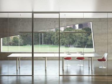 Lacquered rectangular meeting table MÈTA | Rectangular meeting table
