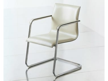 Cantilever leather reception chair KX EXECUTIVE | Reception chair