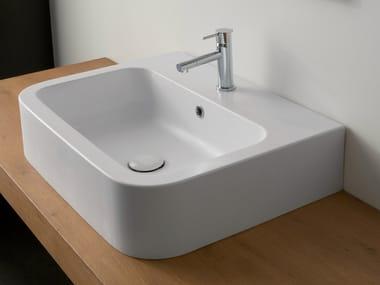 Countertop rectangular ceramic washbasin NEXT 60B