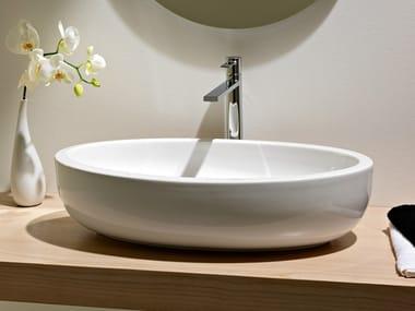 Countertop oval ceramic washbasin PLANET | Countertop washbasin
