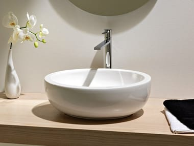 Countertop oval ceramic washbasin PLANET | Washbasin