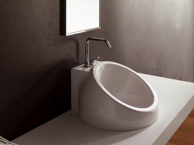 Inset ceramic washbasin PLANET | Inset washbasin
