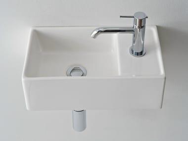 Rectangular ceramic handrinse basin TEOREMA 41X23R
