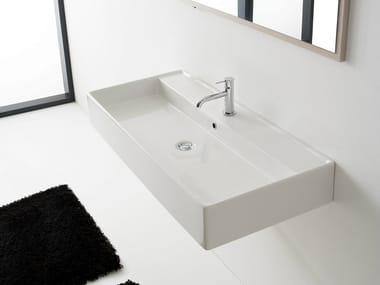 Wall-mounted ceramic washbasin TEOREMA 120R A