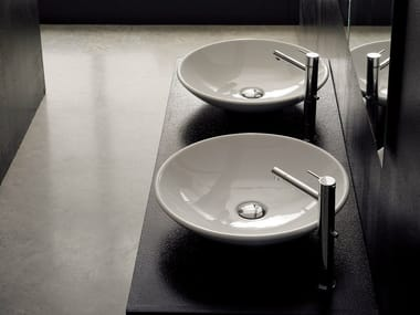 Countertop round ceramic washbasin CUP