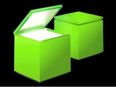 Technopolymer table lamp CUBOLUCE FLASH COLOUR