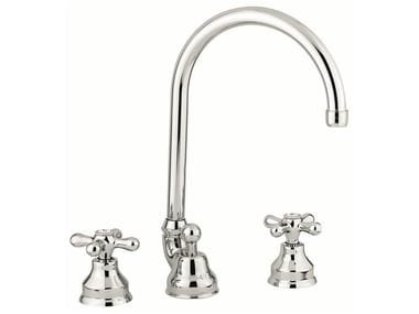 Countertop washbasin tap with automatic pop-up waste 12043 | Washbasin tap