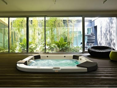 4 seater hydromassage built-in hot tub DELOS | Built-in hot tub