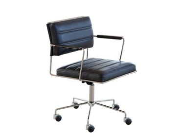 Height-adjustable task chair with 5-Spoke base with casters TIME | Task chair with casters