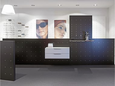 Wall-mounted modular retail display unit NN SYSTEM | Retail display unit