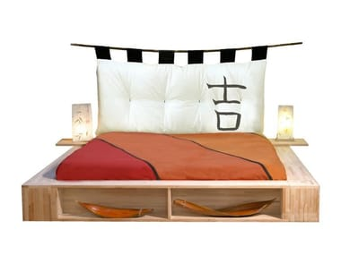 Tatami wooden storage bed LIBROLETTO