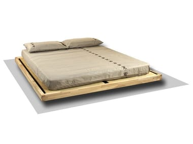 Tatami wooden double bed LUNA