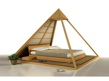 Tatami wooden double bed CHEOPE