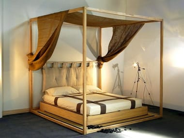 Tatami wooden canopy bed YASUMI | Canopy bed