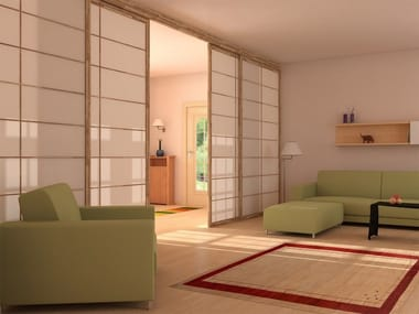 Sliding wooden operable wall SHOJI | Sliding movable wall