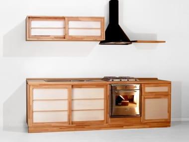 Custom wooden kitchen without handles Kitchen