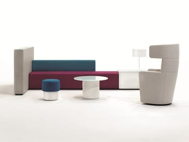 Fabric bench seating with USB PARCS - CAUSEWAY