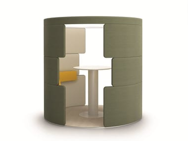 Acoustic meeting pod with built-in lights PARCS - TOGUNA | Office booth
