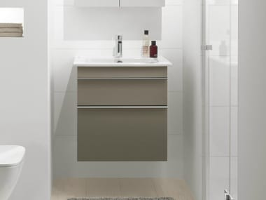 Meuble sous-vasque suspendu avec tiroirs VENTICELLO | Meuble sous-vasque