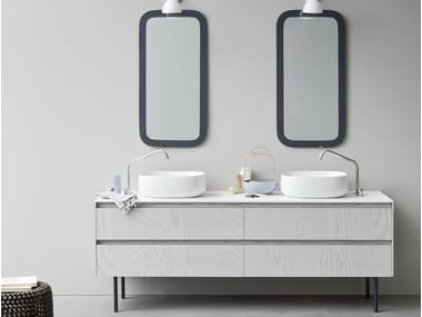 Double vanity unit with drawers MOODE | Double vanity unit