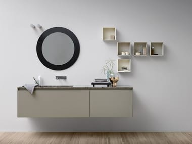 Lacquered single vanity unit MOODE | Lacquered vanity unit