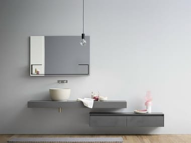 Single wall-mounted ecomalta vanity unit MOODE | Ecomalta vanity unit