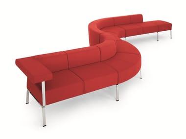 Sectional fabric leisure sofa COFFICE | Sofa