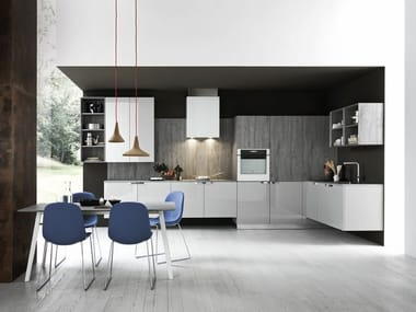 Linear fitted kitchen ARIEL - COMPOSITION 2