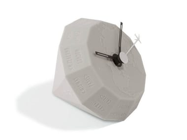 Table-top polyurethane gel clock GLOBE