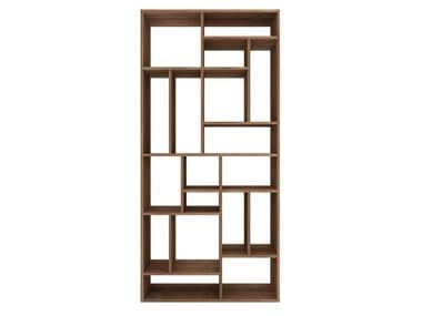 open double sided teak bookcase teak m rack teak bookcase - Teak Bookshelves