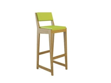 Upholstered wooden chair ROOM 26 BARCHAIR 03