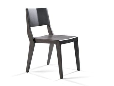Stackable wooden chair QUARTZ CHAIR