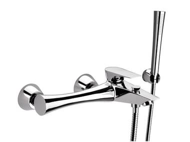 Wall-mounted single handle bathtub mixer with hand shower DIVA | Bathtub mixer with hand shower