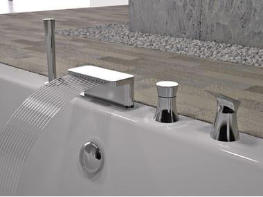 4 hole bathtub set with hand shower DIVA | 4 hole bathtub set