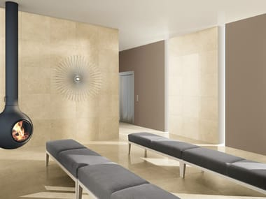 Porcelain stoneware wall/floor tiles YURA BEGE