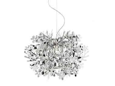 Steelflex® pendant lamp FIORELLA MINI SILVER